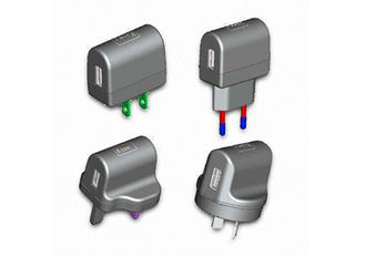 China EU / US / UK / AU metal Plug-in 5v 1A Universal USB Power Adapter (OCP / OVP protection) supplier