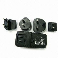 China KTEC 25W KSAFF Series interchangeable plugs power adapter with EN 60950-1 UL60950-1 supplier